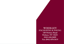 Woolley Excavating & Paving [stationary]